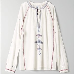 🌱Aritzia Sunday Best white Annalise blouse XS